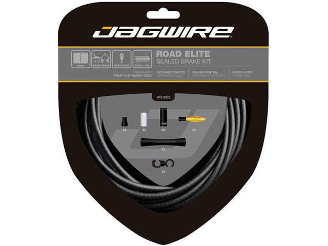 Jagwire Road Elite Sealed Zestaw linek hamulcowych, stealth black